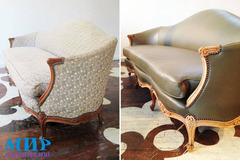 Перетяжка реставрация  мебели недорого