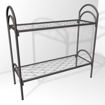 Двухъярусные кровати металлические с ДСП спинками