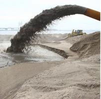 Добыча песка земснарядом
